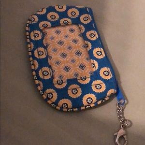 Vera Bradley- Change and Card Purse with Keychain